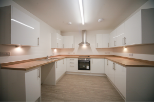 installed modern appliances and fittings